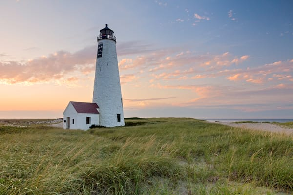 Great Point Lighthouse Nantucket Sunset Photography Art | Katherine Gendreau Photography