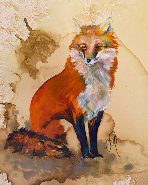 Fox In Oil Art | Christy! Studios