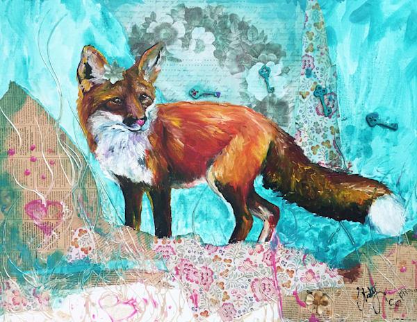 Foxy In Teal Art | Christy! Studios
