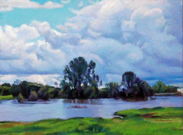 Horseshoe Lake In Clouds Art   Waif Mullins Art