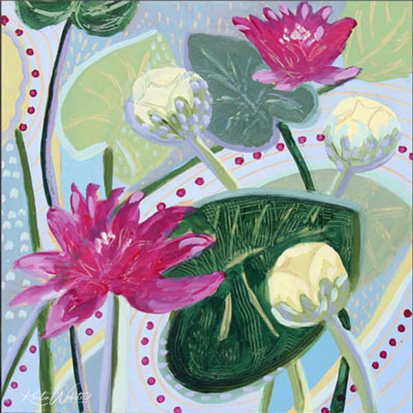 Fushia Lily Lake Art | Kristin Webster Art Studio