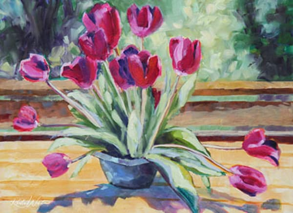 Sunning Tulips Art | Kristin Webster Art Studio