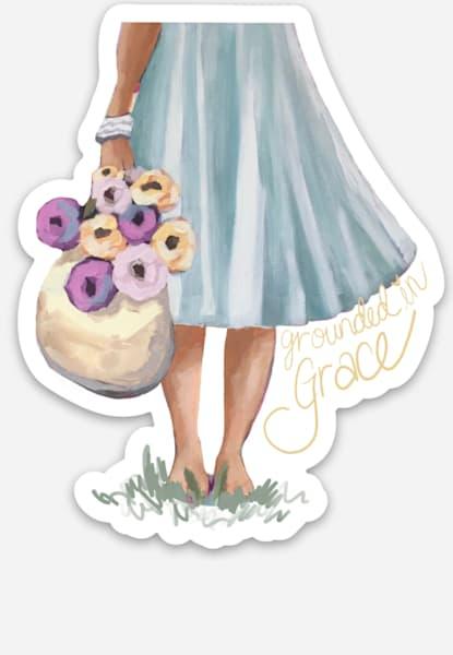 Grounded In Grace Sticker Art | Kristin Webster Art Studio