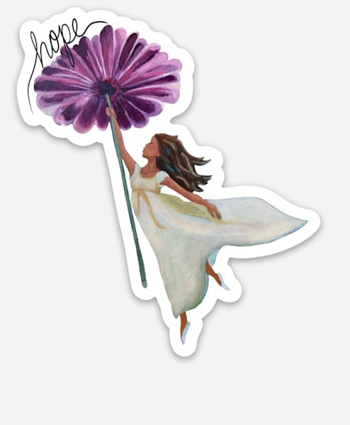 Lifted Up In Hope Sticker Art | Kristin Webster Art Studio