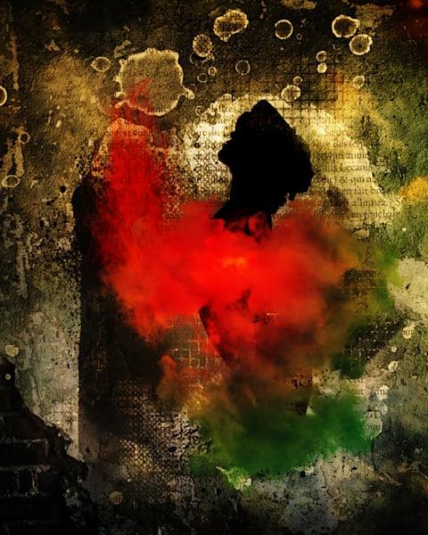 Flame Girl Wall Art | R.j.Ricci Art