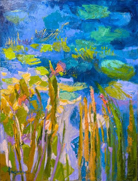 Wet Wing Butterfly (Original Oil) Art | Dorothy Fagan Joy's Garden
