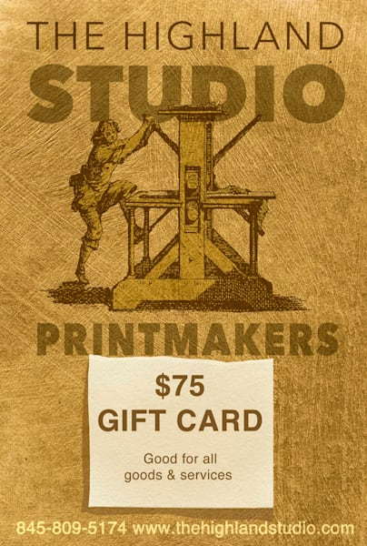 Gift Certificate $75 | The Highland Studio, Inc
