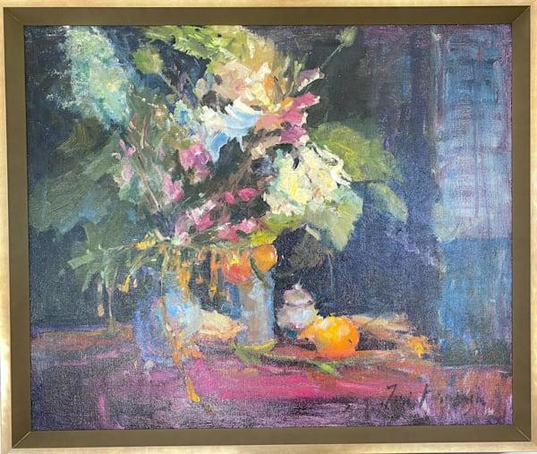 Florals And Oranges Art   Toni Danchik Fine Art