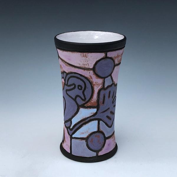 Galactic Gingko Gull Sheet Metal Petroglyph Tumbler, Geo Purple | Gerard Ferrari LLC