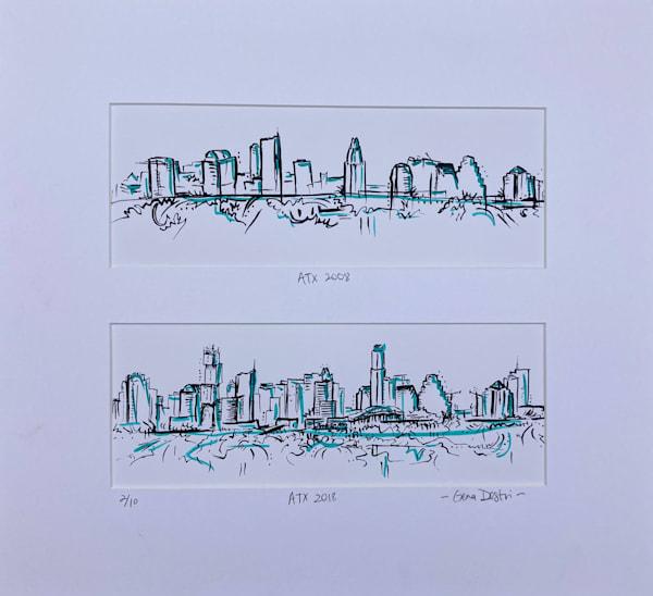 Limited Edition 2/10 Austin Skyline in a Decade Print - Shop Fine Art Gena Destri