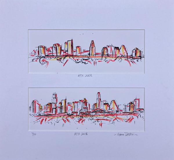 Limited Edition 3/10 Austin Skyline in a Decade Print - Shop Fine Art Gena Destri