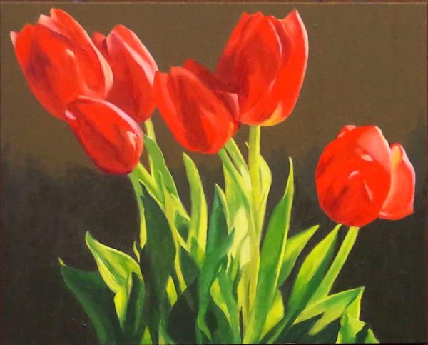 Bright Red Tulips Art | Helen Vaughn Fine Art