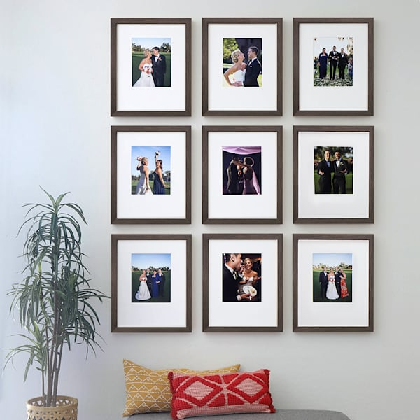 Nine Frame 8x10 Dark Wood Gallery Wall