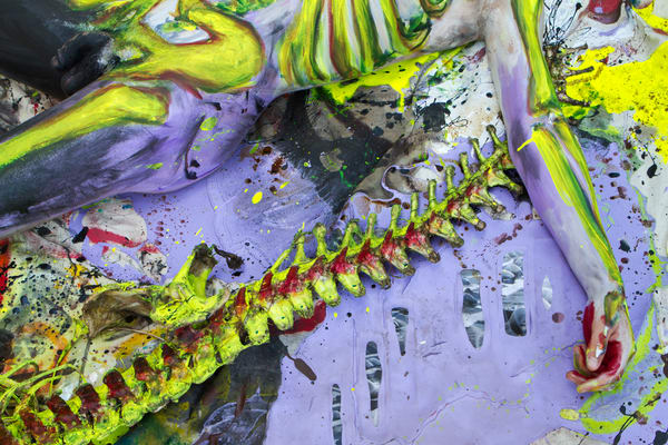 2013 Alligator Carcass Painting Florida Art | BODYPAINTOGRAPHY