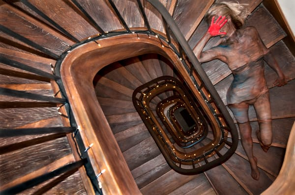 2013 Staircase France Art | BODYPAINTOGRAPHY