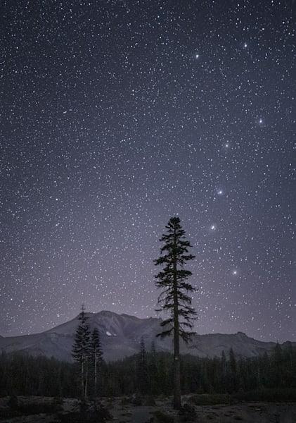 Big Dipper Over Mt. Shasta Photography Art | Charlotte Gibb Photography