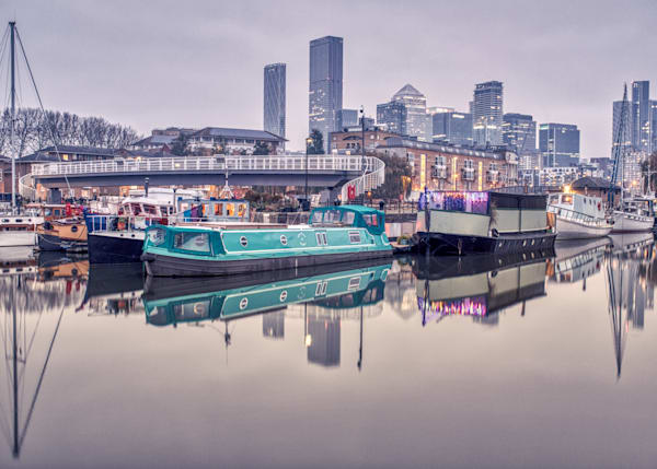 House Boats At Surrey Quays Art | Martin Geddes Photography