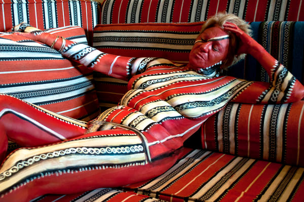 2012  Arabian Cushions Art   BODYPAINTOGRAPHY