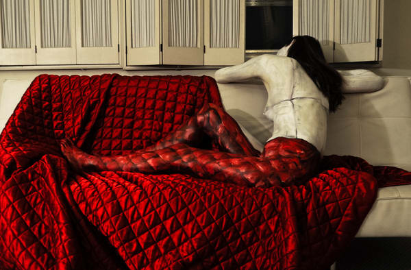 2012  Red Goodwill Blanket  Florida Art | BODYPAINTOGRAPHY