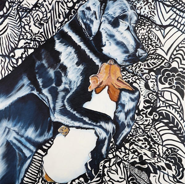 Snuggle Up with Some Super Snuggly Dog Art by Marie Stephens