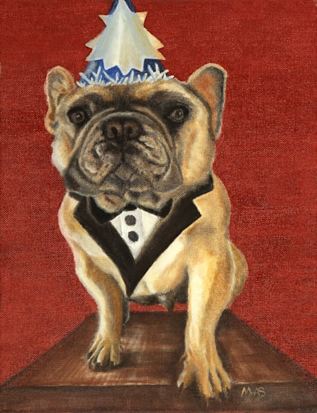 Who's Ready to Party?  This French Bulldog in a Tuxedo is!