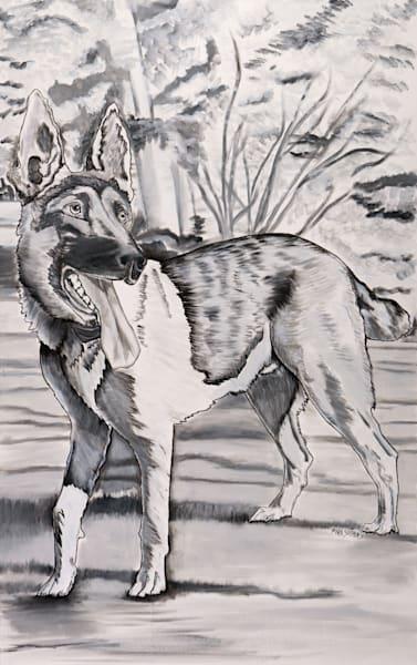 Standing Proud and True, the Loyal German Shepherd Print