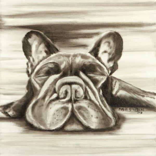 French Bulldog Wall Art Print Decor by Marie Stephens Art