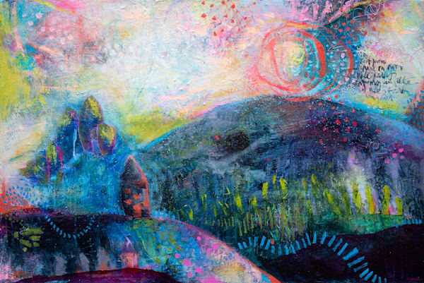That Place Called Home, Original Painting Art   Jessica Hughes Fine Art