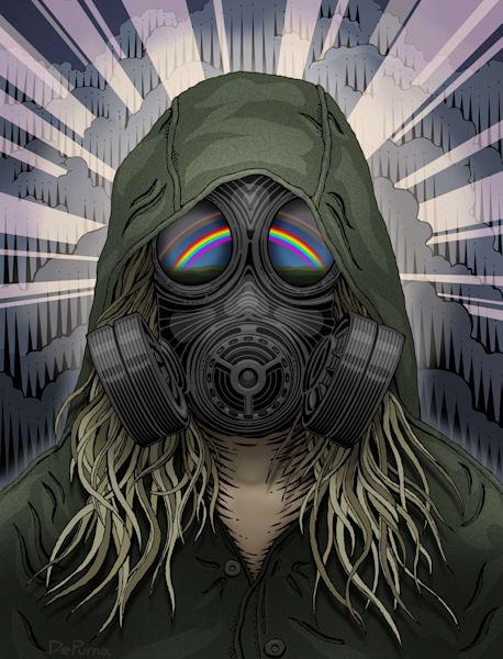 Gas Mask Rainbow