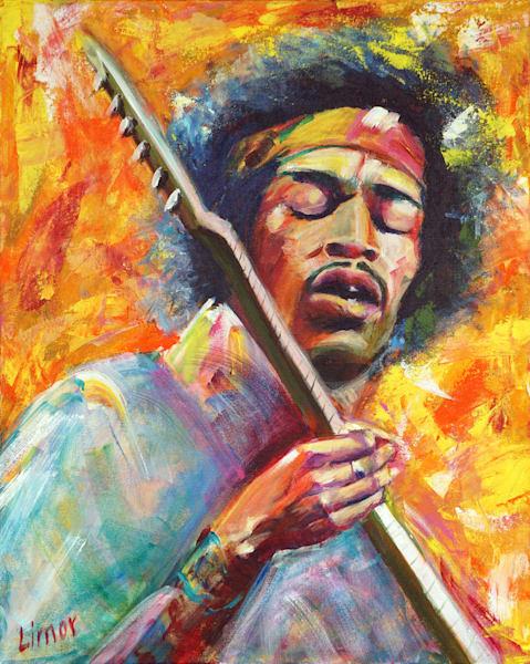 Jimi Hendrix Print Art | Limor Dekel Fine Art