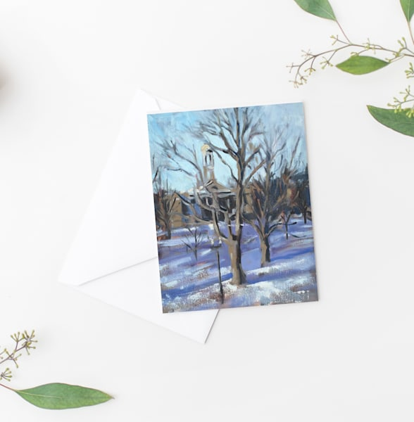 Snowy Holiday Card Set Of 10 Art | Michelle Arnold Paine Fine Art