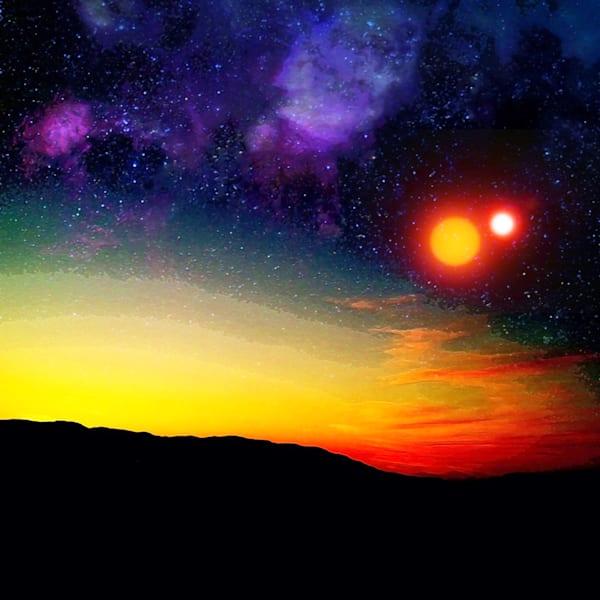 Alien Moon Rise Art | Don White-Art Dreamer