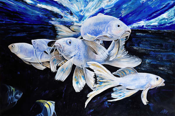 Shoal Of Light | Original Mixed Media Painting Art | MMG Art Studio | Fine Art Colorado Gallery