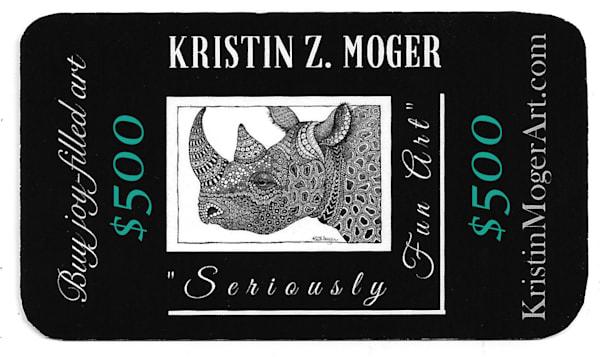 "$500 Gift Card | Kristin Moger ""Seriously Fun Art"""