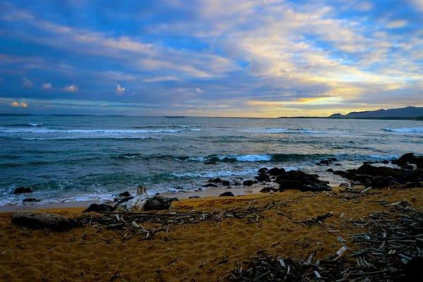 Kauai Beach at Sunset         Hawaii