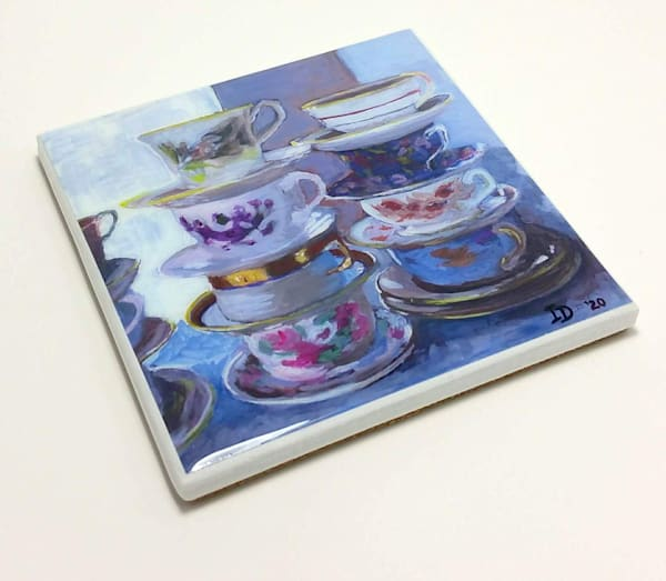 Coaster (Hand Made)   Teacups I | smalljoysstudio