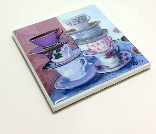 Coaster (Hand Made)   Teacups Ii | smalljoysstudio