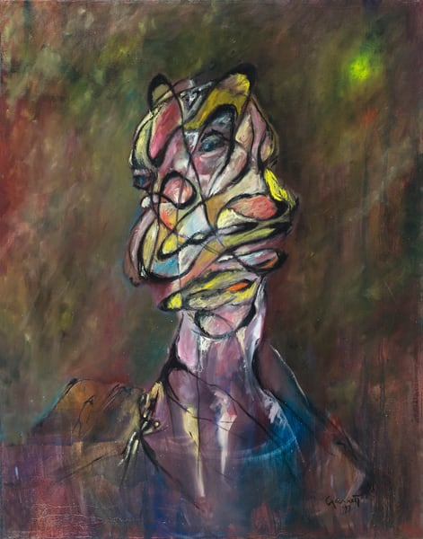 Contemplating Man Art | Sandy Garnett Studio