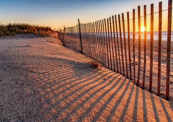 Long Point Sunrise Snow Fence Art | Michael Blanchard Inspirational Photography - Crossroads Gallery