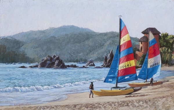 Late Afternoon Light, Zihuatanejo, Mexico Art | Waif Mullins Art