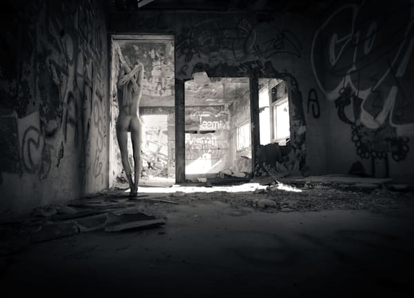 Alina In Abandoned Shack Photography Art | Dan Katz, Inc.