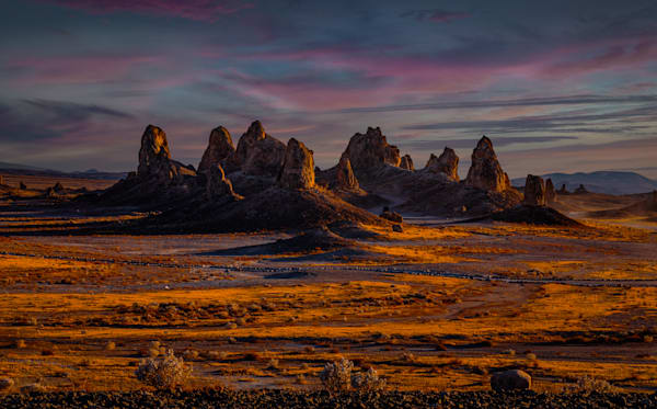 Pinnacles Golden Sunset Photography Art | Dan Katz, Inc.