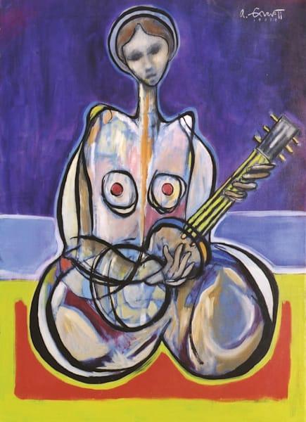 Guitar Player Study Art | Sandy Garnett Studio