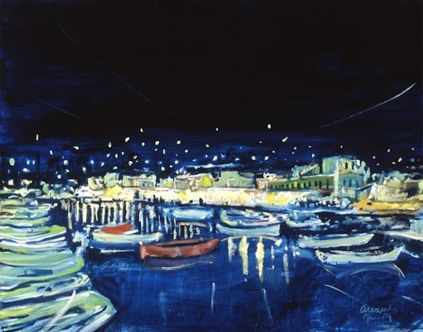 Evening In Mykonos Art | Sandy Garnett Studio