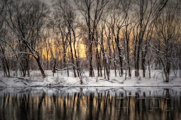 Sunrise On The River Aluminum Print Art | Lens Prose Gallery Studio, LLC