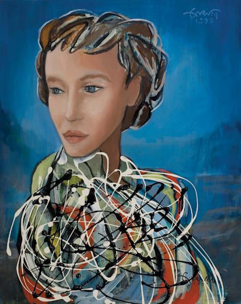 Woman In White Art | Sandy Garnett Studio