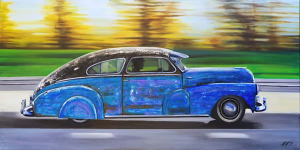 Car In Motion | Original Mixed Media Painting Art | MMG Art Studio | Fine Art Colorado Gallery