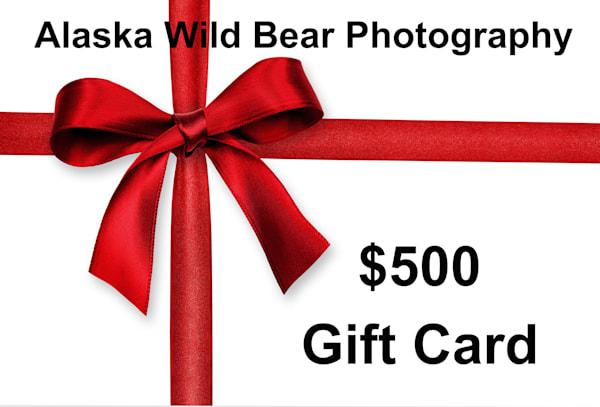 $500 Gift Card | Alaska Wild Bear Photography