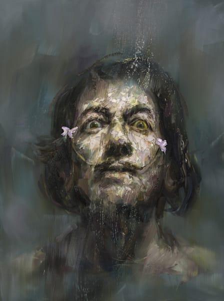 Salvador Dali (Oil On Print) Art | Mathieu Laca