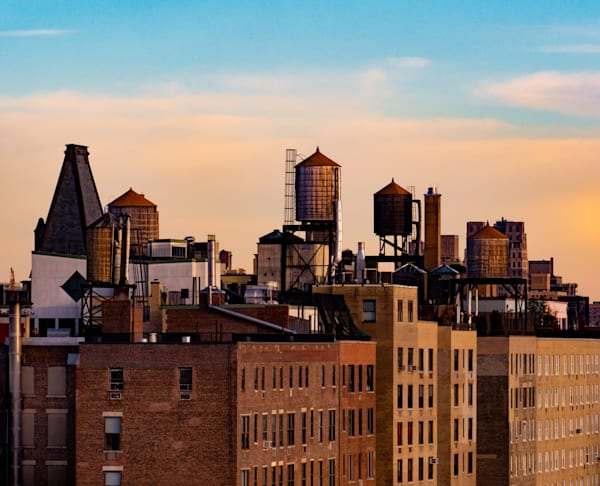 Five West Side Water Towers, NYC